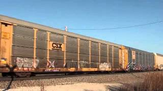 KCS 4704/BNSF 6313 S/B auto train Hammond Kansas.