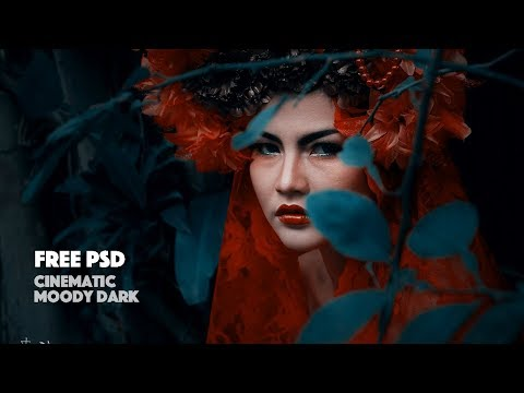 Dramatic Portrait Photo Editng Photoshop Tutorial Color Grading thumbnail