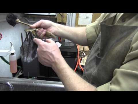 Casting Bronze Stand For Morta Knife Sculpture By Jay Fisher