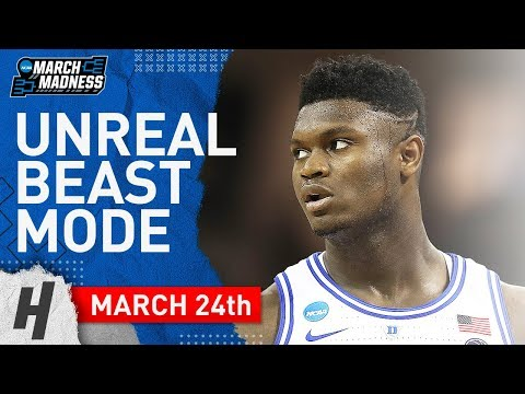 Zion Williamson UNREAL CLUTCH Full Highlights Duke vs UCF 2019.03.24 - 32 Points, 11 Reb, EPIC