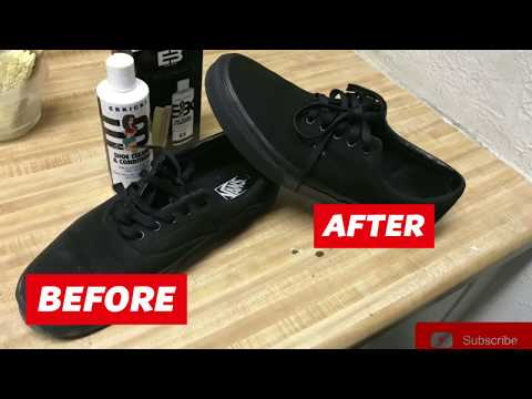 How to clean black vans
