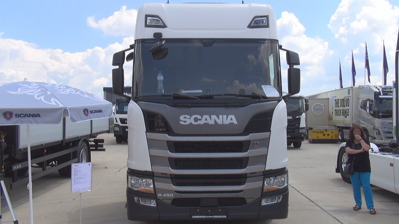 scania r 450 a4x2la tractor truck 2018 exterior and interior youtube. Black Bedroom Furniture Sets. Home Design Ideas