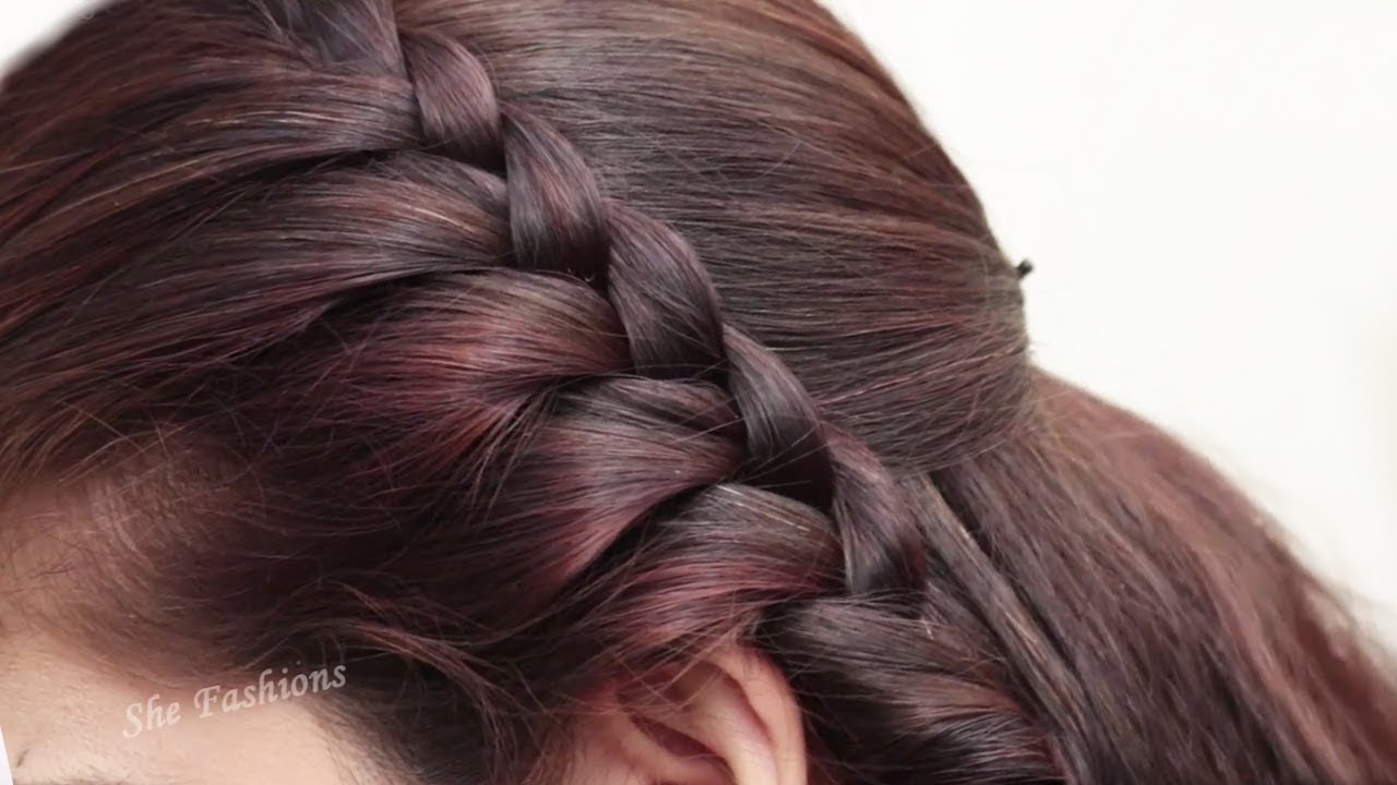 how to do braid hairstyle for long hair 2018 | easy hairstyle step