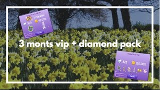 3 months star vip AND diamond pack | quinnette