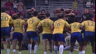 Brazil responds to the Haka. [Brazil vs Māori All Blacks '18]