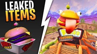 *NEW* DURR BURGER SKIN AND POWER UP ITEMS (SPEED JUICE) COMING SEASON 4! - Fortnite: Battle Royale