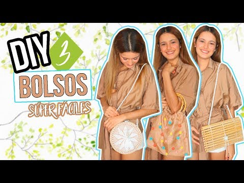 DIY - Cómo hacer 3 bolsos en 5 minutos - FÁCIL, RÁPIDO Y BARATO!