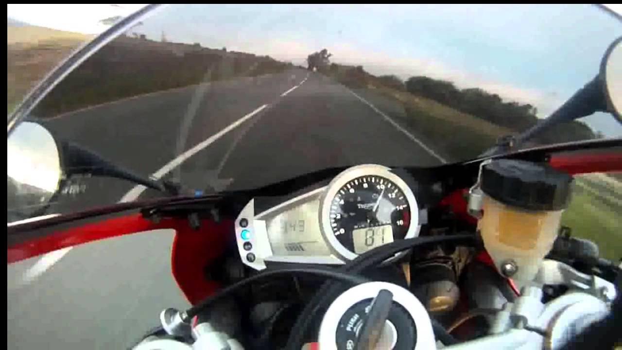 I O M TT 150 MPH NAKED ON A MOTORBIKE - YouTube