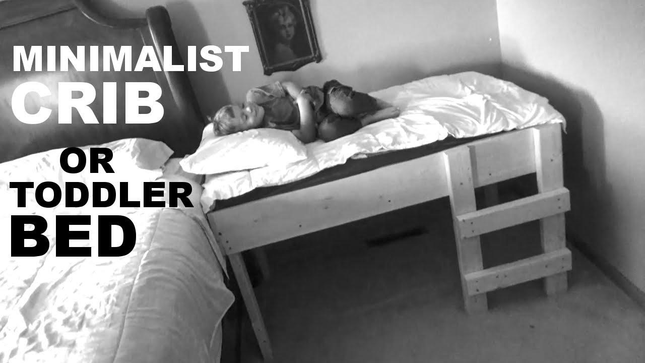 Diy Minimalist Crib Toddler Bed Youtube