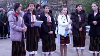 Secvente mini-concert al copiilor din Roscani, Straseni.