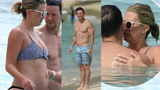 Mark Wahlberg packs on the PDA with model wifeRhea Durham