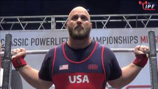 Dennis Cornelius - 968.5kg 1st Place 120kg - IPF World Classic Powerlifting Championships 2017