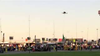 DXC Technology drone delivers green flag for DXC Technology 600