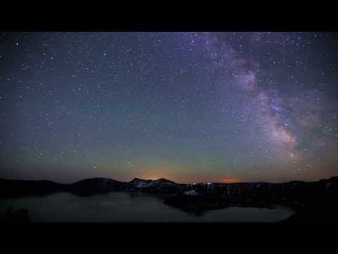 A Timelapse Movie - Milky Way over Crater Lake National Park