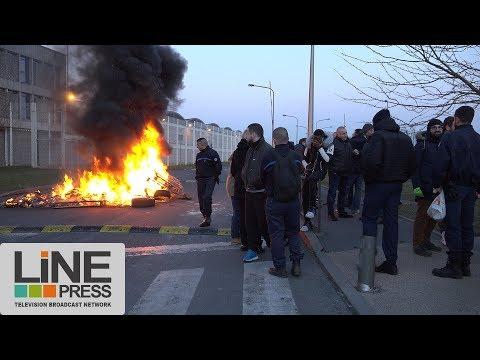 Les surveillants pénitentiaires remettent le couvert / Fleury-Mérogis (91) France 22 février 2018