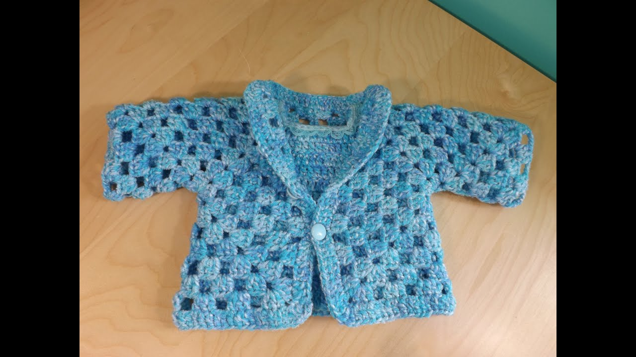 Crochet un abrigo o su ter para beb parte 1 de 2 con - Jerseys faciles de hacer ...
