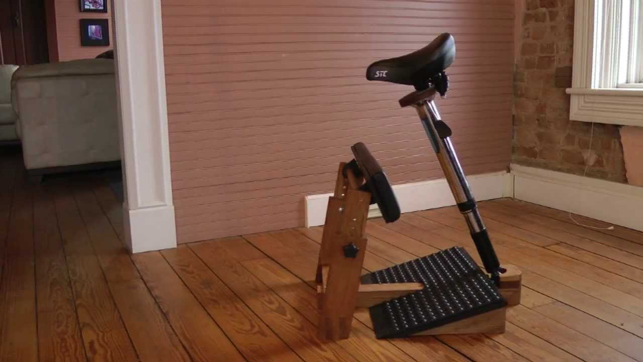 The StandRight Standing Task Chair - YouTube
