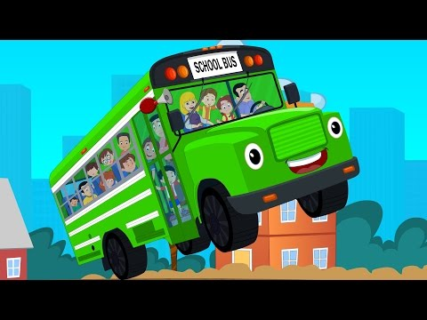 Wheels On The Bus Go Round And Round | Nursery Rhymes Songs For Children And Kids