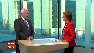 Wolfgang Kubicki, FDP, im Gespräch mit Christiane Meier