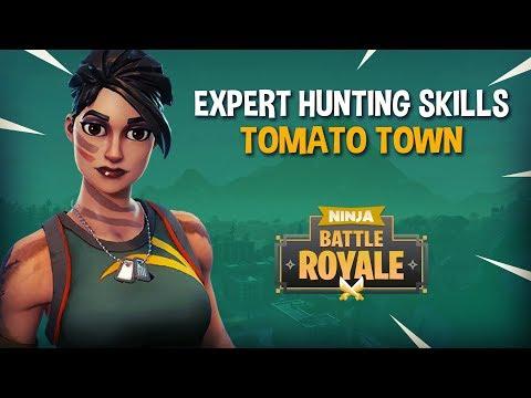 Expert Hunting Skills Tomato Town!! - Fortnite Battle Royale Gameplay - Ninja