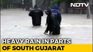 200mm Rain In 10 Hours In Gujarat's Valsad, Several Areas Flooded