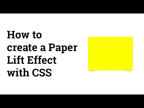 Screencast #15: How to create a Paper Lift Effect with CSS