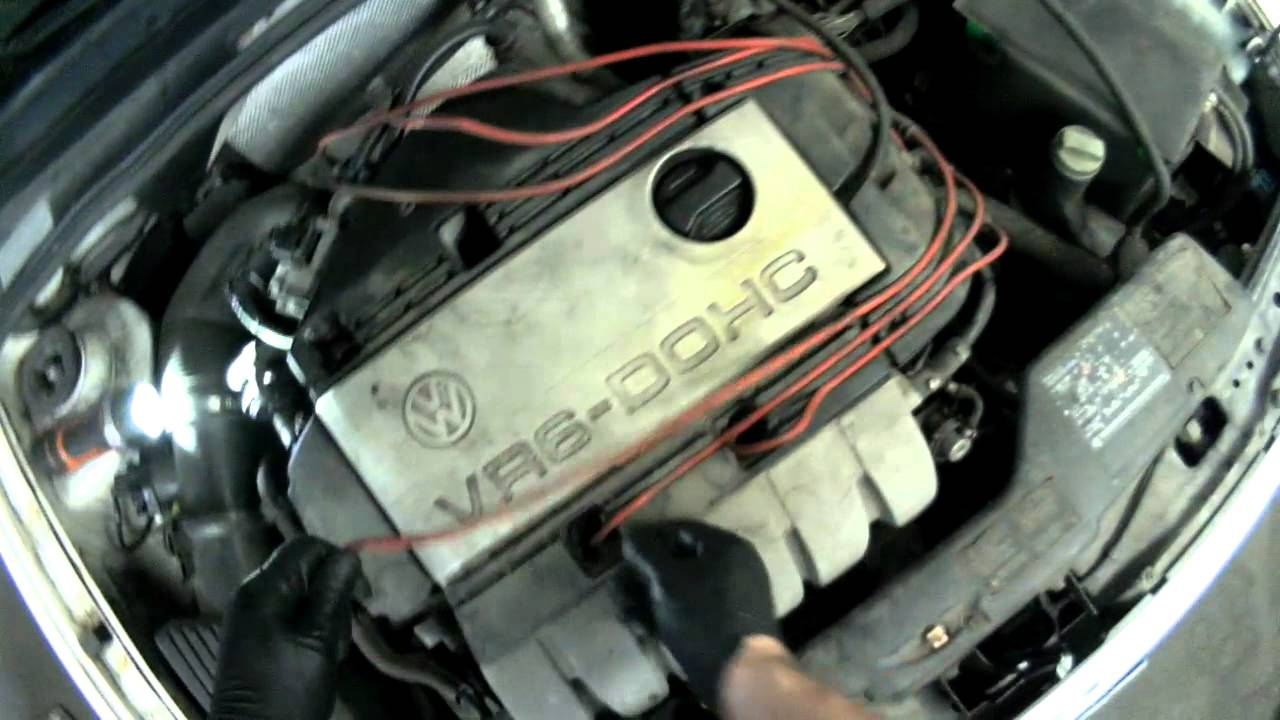 vw a3 vr6 removing spark plug wires spark plugs