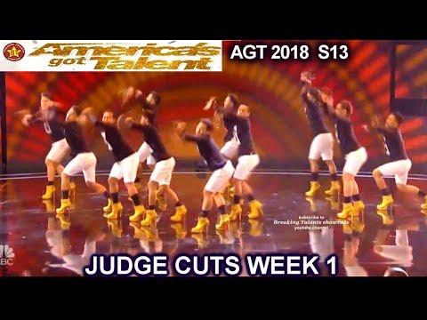 Junior New System JNS FILIPINO Dance Group in High Heels America's Got Talent 2018 Judge Cuts 1 AGT