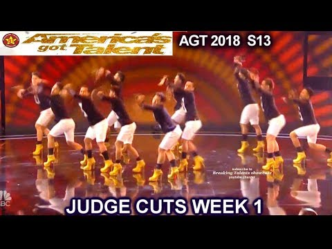 Junior New System JNS FILIPINO Dance Group in High Heels Americas Got Talent 2018 Judge Cuts 1 AGT