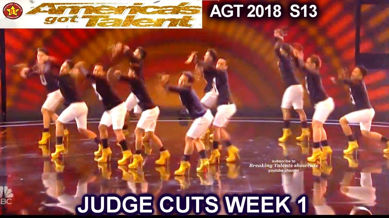 f41412b09 Junior New System JNS FILIPINO Dance Group in High Heels America's Got  Talent 2018 Judge Cuts 1 AGT