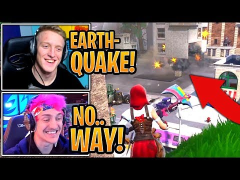 Streamers React to New *LIVE* Earthquake Event DESTROYING Tilted Towers Building! - Fortnite thumbnail