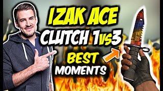 IZAK ACE Z MAG-7, CLUTCH 1vs3 i KOSA!!! MOLSI 200IQ, DZIWNY CLUTCH PAGO - CSGO BEST MOMENTS