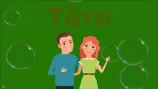 Развитие Ребёнка Видео урок 03 Семья Слова и Картинки