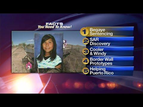 October 20th Morning Rush: Man who killed girl on Navajo Nation to be sentenced