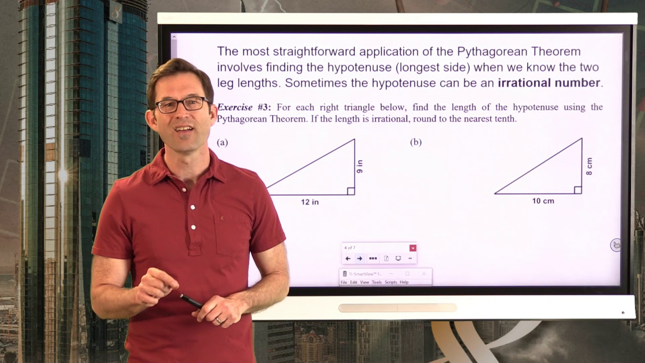 hight resolution of N-Gen Math 8.Unit 8.Lesson 1.The Pythagorean Theorem - YouTube