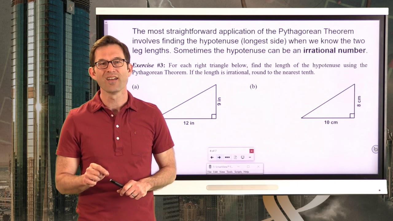 medium resolution of N-Gen Math 8.Unit 8.Lesson 1.The Pythagorean Theorem - YouTube