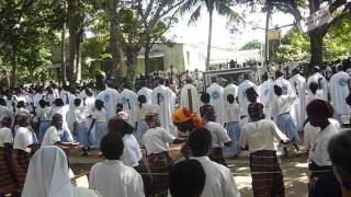 Dancing at The Mass with Bishop - Africa, Mozambique