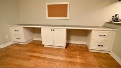 A Desk Built for Two, Custom Built in Desk