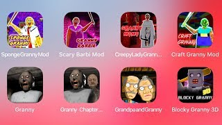 Sponge Granny,Barbi Granny,Creeoy Lady Granny,Craft Granny,Granny,Granny Two,