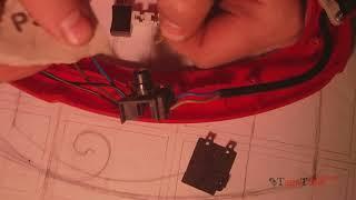 Ремонт садового триммера, электрокосы. Кнопка.