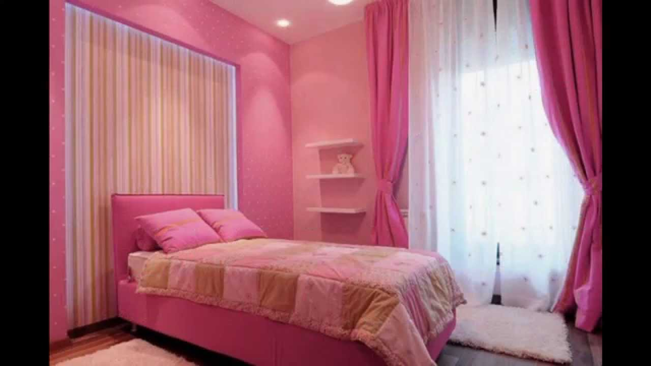 Pink room Wallpaper decor ideas