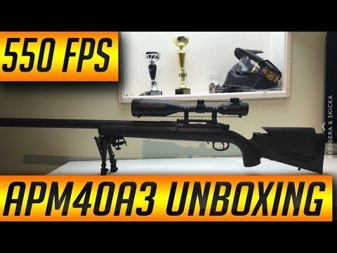 APM40A3 AIRSOFT SNIPER UNBOXING