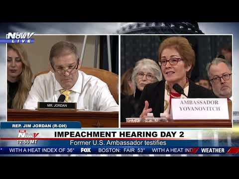 IMPEACHMENT HEARING DAY 2, PART 3: Jordan GRILLS Yovanovitch; cheers erupt at conclusion