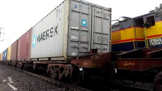 monster honking ajni wag 9 scolds railfans tows kyn wag 9 with container rake