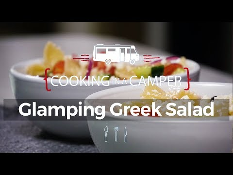 Glamping Greek Salad - Cooking In A Camper