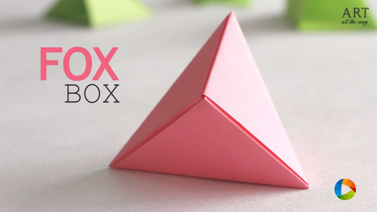 Origami Hinged Gift Box Tutorial - Paper Kawaii - YouTube | 720x1280