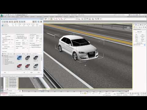 Using 3ds Max Design With Civil 3D - Part 17 - Placing Animated Vehicles