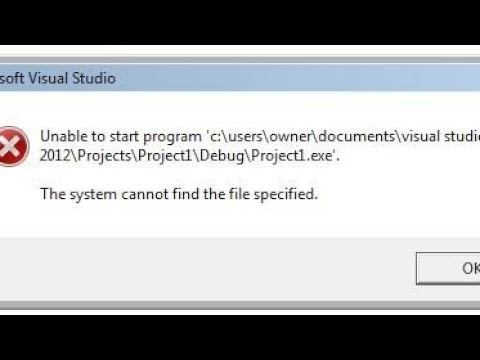 Visual Studio Error Solved:Unable to start program 'c\users\    \visual  studio    The system cannot