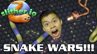 SLITHER.IO SNAKE WAR!