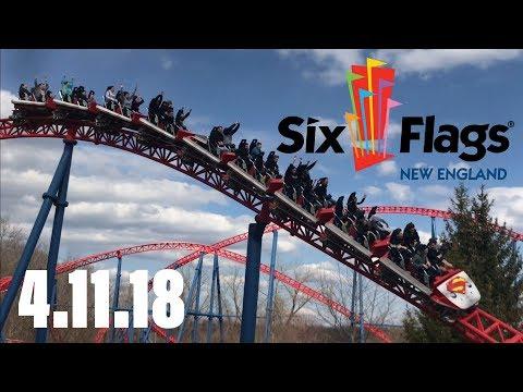 Six Flags New England Vlog - 4.11.18 - Stapled on Superman